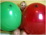 Video clip for sale of Miel bouncing and grinding on 30-inch balloons