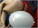 bounce on big balloon