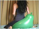 Video clip for sale of Andi bum-popping big balloons