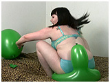 bum popping thick balloons