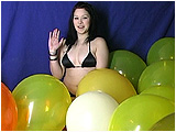 Newbie Lea inflates balloons for you