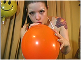 Video clip for sale of Victoria mouth-inflating balloons