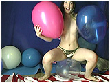 inflating balloons to play with