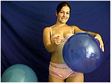 inflate big balloon before poppign it