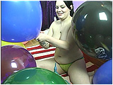 Video clip for sale of Kat inflating 17-inch balloons with a cold air pump