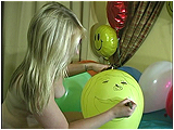 Video clip for sale of Miel drawing on balloons