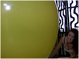 Video clip for sale of Holly inflating a 72-inch balloon and then letting it deflate