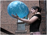 balloon blowing