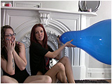 Video clip for sale of Raven and Holly in an overinflation challenge