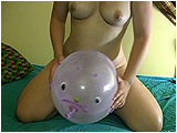 Video clip for sale of Miel inflating and playing with punchball critters