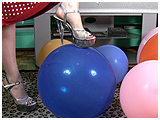 feet and balloons