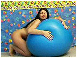 Tanya gets acquainted with a big squishy balloon
