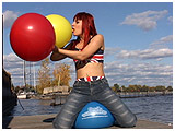 Video clip of Debby inflating outside