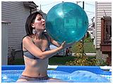 Video clip of Debby ballooning in the pool