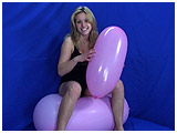 Video clip for sale of Krystal bouncing while inflating