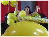 Video clip for sale of Kitsune playing with balloons