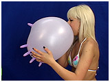 Video clip for sale of Scarlette blowing to pop latex gloves