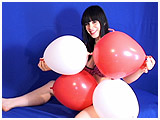Video clip for sale of Lydiah inflating square balloons