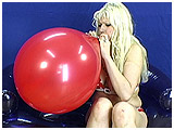 Video clip of Starla inflating a 16-inch balloon