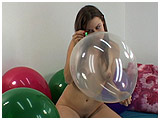 Video clip of Ruby pin-popping balloons