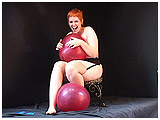 Video clip for sale of Redd playing with balloons