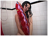 slim jim balloon in the shower