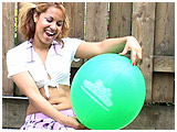 Video clip for sale of Trini outside with a balloon