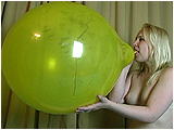blow to pop  balloon
