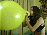 Video clip for sale of Andi blows to pop Emma's Balloons balloons