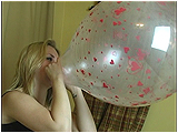 blow to pop round balloon