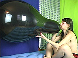 Video clip for sale of Debby blowing to pop a black 24-inch Qualatex balloon