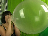 Video clip for sale of Sophie blowing to pop