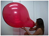 blow to pop a 20 inch balloon