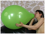 Video clip for sale of Debby blowing to pop a 16-inch Unique