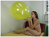 blow to pop of stuffed balloons