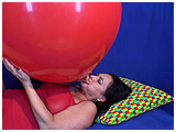 Video clip for sale of Kedra blowing to burst a 32-inch Malaysian balloon
