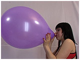 Video clip for sale of Lydiah blowing to burst a 16-inch unique