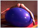 Video clip for sale of Ava riding a massive 63-inch balloon