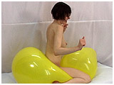 Video clip for sale of Corinne bouncing naked on a balloon