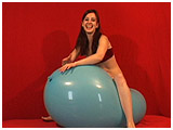Video clip for sale of Atish bouncing on a giant balloon