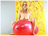 Video clip for sale of Rachel bouncing naked on a 33-inch Chinese balloon