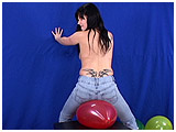 bum popping balloons