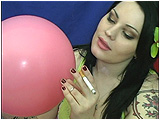 cigarette smoking and  balloon