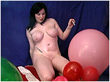 Using her Capri cigarette, Xev cigpops balloons