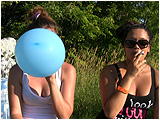 Video clip for sale of Kelly and Michelle smoking with balloons