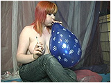 Video clip for sale of Xev cig-popping a bunch of small spray balloons