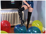 popping balloons in boots