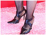 Video clip for sale of Debbie stomping bubble wrap in stiletto heels