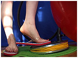flip flops foot pump