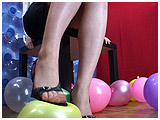 Video clip of Mistress Xev torturing her little balloons